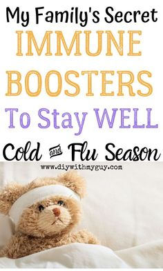 My family's secrets for staying WELL! Cold and flu viruses spread more easily in the winter months, so use these cold prevention tips and immune boosters to help strengthen your bodies' natural…More Natural Cough Remedies, Cold Home Remedies, Natural Health Remedies, Natural Cures, Herbal Remedies, Natural Skin, Flue Remedies, Natural Healing, Sore Throat Relief