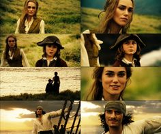 Jack Sparrow's daughter and Will Turner and King Swann's son >>> Pirates of the Caribbean: At World's End this is one of my favorite scenes of any movie ever Will And Elizabeth, Elizabeth Swann, Charles Vane, Captain Jack Sparrow, Dc Movies, Great Movies, Ghibli, Johny Depp, Pirate Life