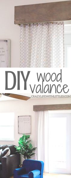 How to Refresh Your Living Room on a Budget, Budget Friendly Home Decor, DIY Wood Valance, Modern Farmhouse Home Decor, Easy Weekend Projects, Weekend DIY