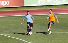 Nacho, en su primer entrenamiento con la selección absoluta en Las Rozas en 2013 #seleccionespanola #LaRoja #diariodelaroja