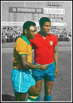 legends and friends, RIP Eusebio... Pele & Eusebio