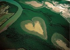 France From Above: Heart in Voh, New Caledonia, France
