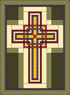 Christian Cross - ... by Judit Hajdu | Quilting Pattern - Looking for your next project? You're going to love Christian Cross - 42