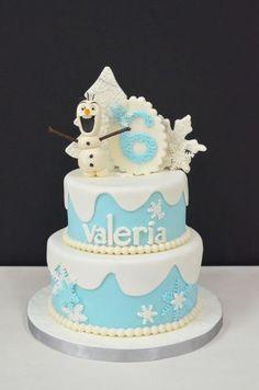 Tarta Olaf elaborada por The Cake Project en Madrid