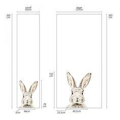 Dit magneetbehang met konijnis een leuk alternatief voor het klassieke magneetbord. Het bestaat uit fijne ijzerdeeltjes op een ondergrond van vinyl. De ijzerdeeltjes maken het kleefkrachtig voor magneten. Ideaal om tekeningen, postkaarten en bericht...