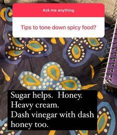 Gypsy Kitchen, Vinegar And Honey, Spicy Recipes, Sugar, Cream, Food, Creme Caramel, Essen, Meals