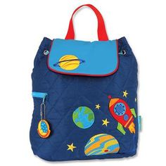 Personalized Stephen Joseph Space Quilted Backpack