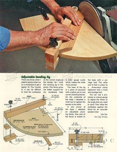 Miter Sanding Jig - Sanding Tips, Jigs and Techniques | WoodArchivist.com