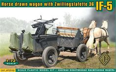 IF-5, Horse drawn wagon with Zwillingslafette 36. Ace, 1/72, initial release 2012, No.72510. Price: 13,72 EUR (marketplace).