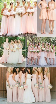 coral blush peach bridesmaid dresses wedding color ideas #bridesmaiddresses