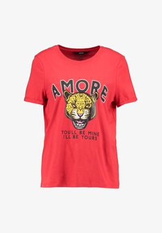 Vero Moda VMWILD MERCI - T-Shirt print - chinese red - Zalando.at Shirt Print, School Outfits, Printed Shirts, Chinese, Red, Mens Tops, Clothes, Women, Fashion