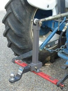 Turn your standard drawbar/toolbar into a 2 receiver for your trailer hitches! This is a 2 Receiver that mounts to most category or Tractor Drawbar, 8n Ford Tractor, Compact Tractor Attachments, Garden Tractor Attachments, Small Tractors, Compact Tractors, Utility Trailer, Trailer Hitch, Welding Trailer