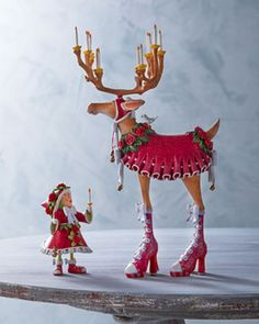 "Patience Brewster ""Donna"" Reindeer Figure and Elf Ornament on shopstyle.com"