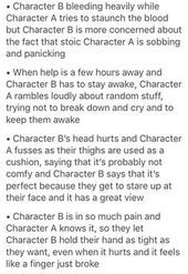 why would i wanna imagine this shit. jk i love tragedy. Writing Boards, Book Writing Tips, Writing Help, Writing Ideas, Otp Prompts, Dialogue Prompts, Story Prompts, The Words, Kevedd