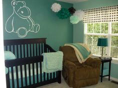 The lighter color is Sherwin Williams Hazel 6471. The darker color is surf green 6473.  Just painted the bottom half of my breakfast room Surf Green and it is a chameleon!  Amazing...it is teal in the day and green at night!