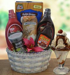 Gift basket ideas... sundae basket