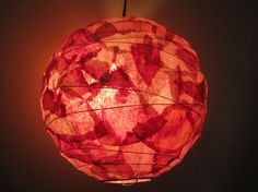 light made from coffee filters