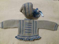 Conjunto bebé tejido en lana