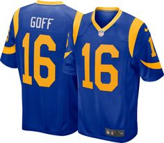 6e41a2a30fc Los Angeles Rams #30 Todd Gurley II NFL V-Neck Jersey Shirt Blue Mens nwot