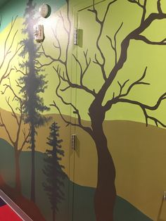 New Enchanted Forest mural at ARTitorium. Kids will have the opportunity to add flowers, plants, creatures, and more to the mural to fit different themes. Forest Mural, Idaho Falls, Interactive Art, Enchanted, Opportunity, Broadway, Creatures, Adventure, Fit