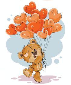 News - Claudette Fyvie - - News -. Cute Teddy Bears, Brown Teddy Bear, Cute Images, Cute Pictures, Decoration St Valentin, Lapin Art, Cute Clipart, Tatty Teddy, Cute Illustration