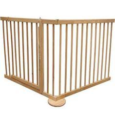 Barrière de sécurité Max 120-170cm, en bois, 2 …