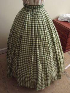 Green and yellow plaid, Civil War reenacting skirt