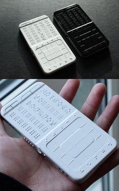 telefone celular em braile!
