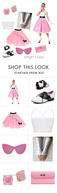 """""""poodle pink"""" by boogieocg ❤ liked on Polyvore featuring Theory, STELLA McCARTNEY, Kate Spade and Hermès"""