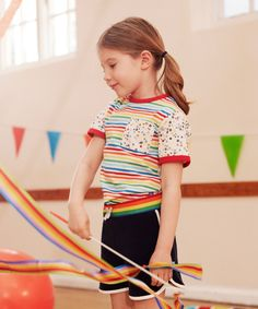 Little Bird Striped and Floral T-Shirt