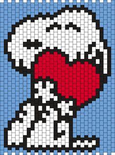 Valentine Snoopy by Maninthebook on Kandi Patterns
