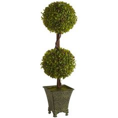 Artificial Double Topiary - Home Decor Plant Ideas