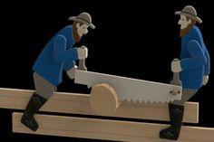 Lumberjacks - Parasolid, STL, STEP / IGES, SOLIDWORKS, Other - 3D CAD model - GrabCAD
