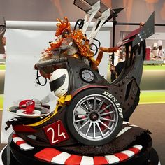 This is the combined Chocolate and Sugar sculptures made by the French team at the 2013 Pastry World Cup.