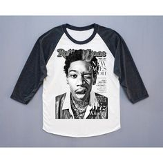 Wiz Khalifa Shirt American Rapper Shirt Hip Hop Shirt Rock Tee... ($18) ❤ liked on Polyvore