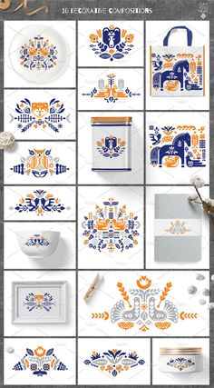 by Ivanna-Ivashka on Folk kit. by Ivanna-Ivashka on Scandinavian Pattern, Scandinavian Folk Art, Theme Template, Collections Of Objects, Stencil, Motif Floral, Pattern Illustration, Web Design, Surface Pattern Design