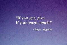 Teach forward