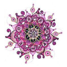 Mandalas acuarela de tatuaje temporales - amarillo, púrpura, rosa, pintura…
