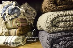 Updating throws & pillows is a quick and easy way to change up your space this fall. We love a good, chunky, knit throw!