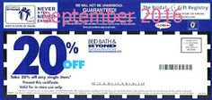 Bed Bath and Beyond Coupons Ends of Coupon Promo Codes MAY 2020 ! Looking for a promotional code for Bed Bath and more? Online Coupons, Grocery Coupons, Free Printable Coupons, Free Printables, Dollar General Couponing, Coupons For Boyfriend, Holiday Hours, Wedding Gift Registry, Love Coupons
