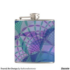 Fractal Art Design Hip Flask
