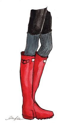 boots, socks, tights