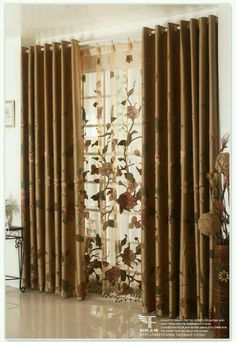 Curtains and blinds Cute Curtains, Brown Curtains, Double Rod Curtains, Colorful Curtains, Hanging Curtains, Sheer Curtains, Window Curtains, Drapery, Curtain Styles