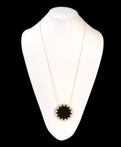 House of Harlow Leather Sunburst Necklace. Obsessed.