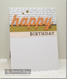 Delicious Birthday, Diagonal Stripes Background, Happy Birthday Background, Happy Die-namics - Barbra Anders #mftstamps