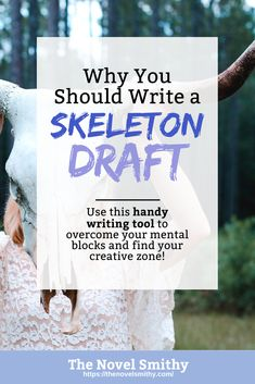 I'm taking on the NaNoWriMo challenge come November, and one of the main writing tools I plan to use is a skeleton draft. But what exactly are skeleton drafts, and—more importantly—should you write a skeleton draft of your own?