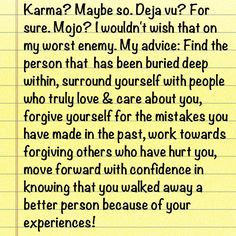 """""""Karma"""" I am feeling like I need some inspiration today.  My oldest son turned 18 today.  (snif) I have always been taught to treat others as you want to be treated.  I have tried to teach the same to my kids.  I thought this was really nice and sums it right up."""