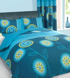 Bold teal and lime tropical bedding. http://www.worldstores.co.uk/p/Gaveno_Cavailia_Urban_Living_Complete_Bedding_Set_in_Teal.htm