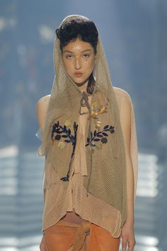 Look 037 detail at Vivienne Westwood #SS14 Gold Label.