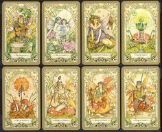 The Mythic Faerie Tarot Card Deck & Book Set by Linda Ravenscroft & Barbara Moore